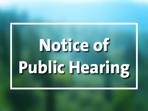 NewsFlash Notice of Public Hearing