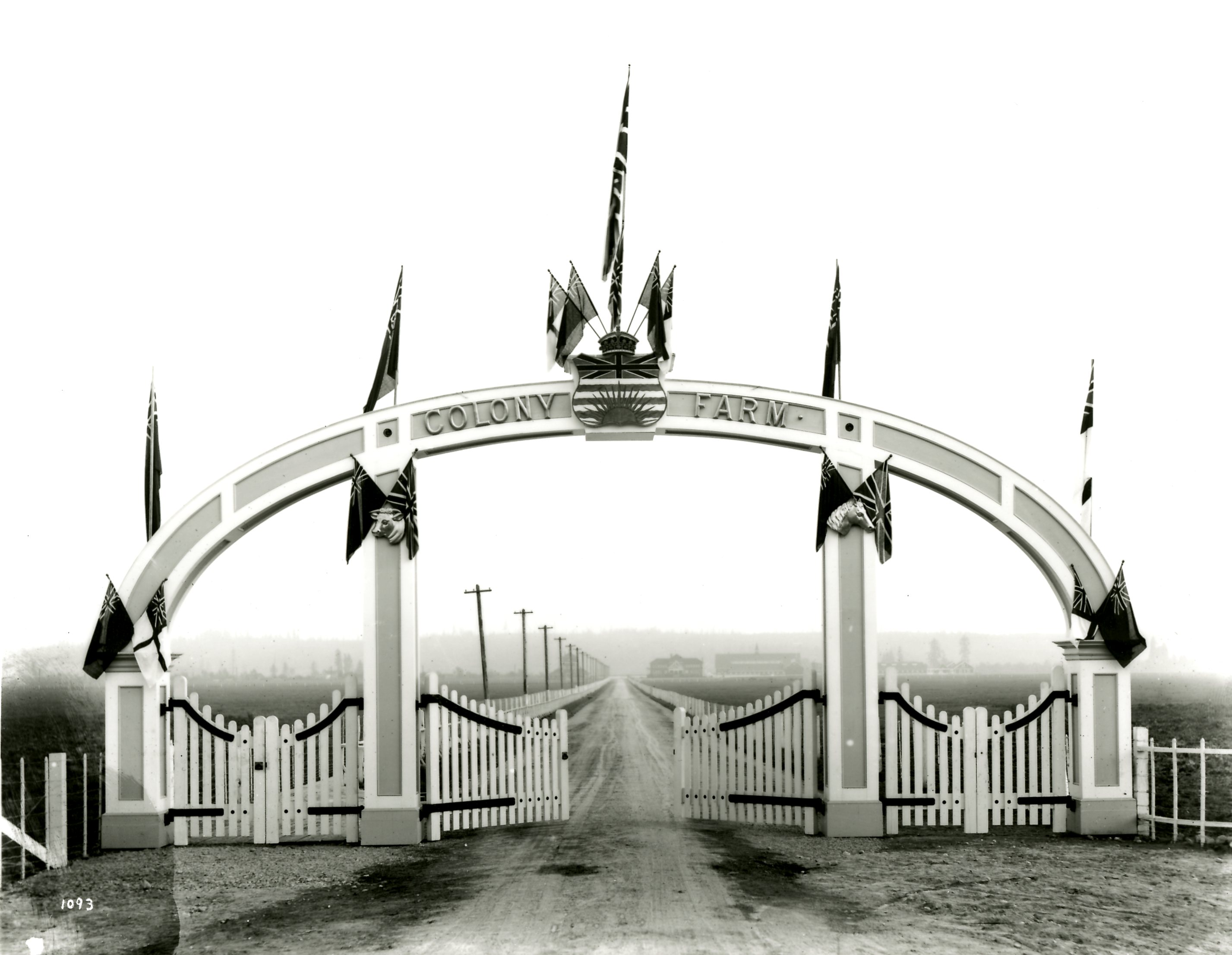 Entrance Arch of Colony Farm, Circa 1912 (JPG) Opens in new window
